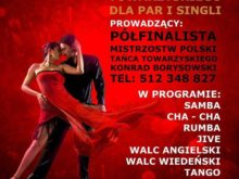 Więcej o: Kurs tańca towarzyskiego dla par i singli