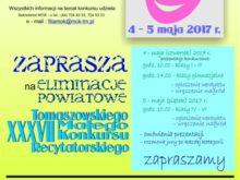 Więcej o: Eliminacje powiatowe XXXVII Małego Tomaszowskiego Konkursu Recytatorskiego
