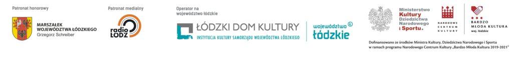 Logo instytucji: Łódzkiego Domu Kultury, MKDNiS, projektu Bardzo Młoda Kulturura