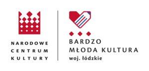 Logo Narodowego Centrum Kultury oraz programu Bardzo Młoda Kultura woj. łódzkiego