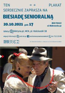 Biesiada Senioralna, 20.20.2021, godz.17, Tomaszów Mazowiecki, MCK Tkacz, ul. Niebrowska 50
